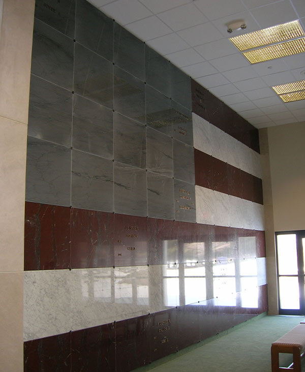 Veteran Flag Wall