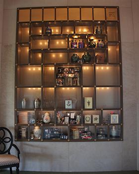 glass front niche