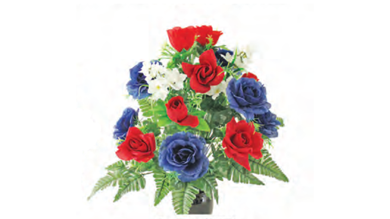 Red White and Blue Floral Arrangement
