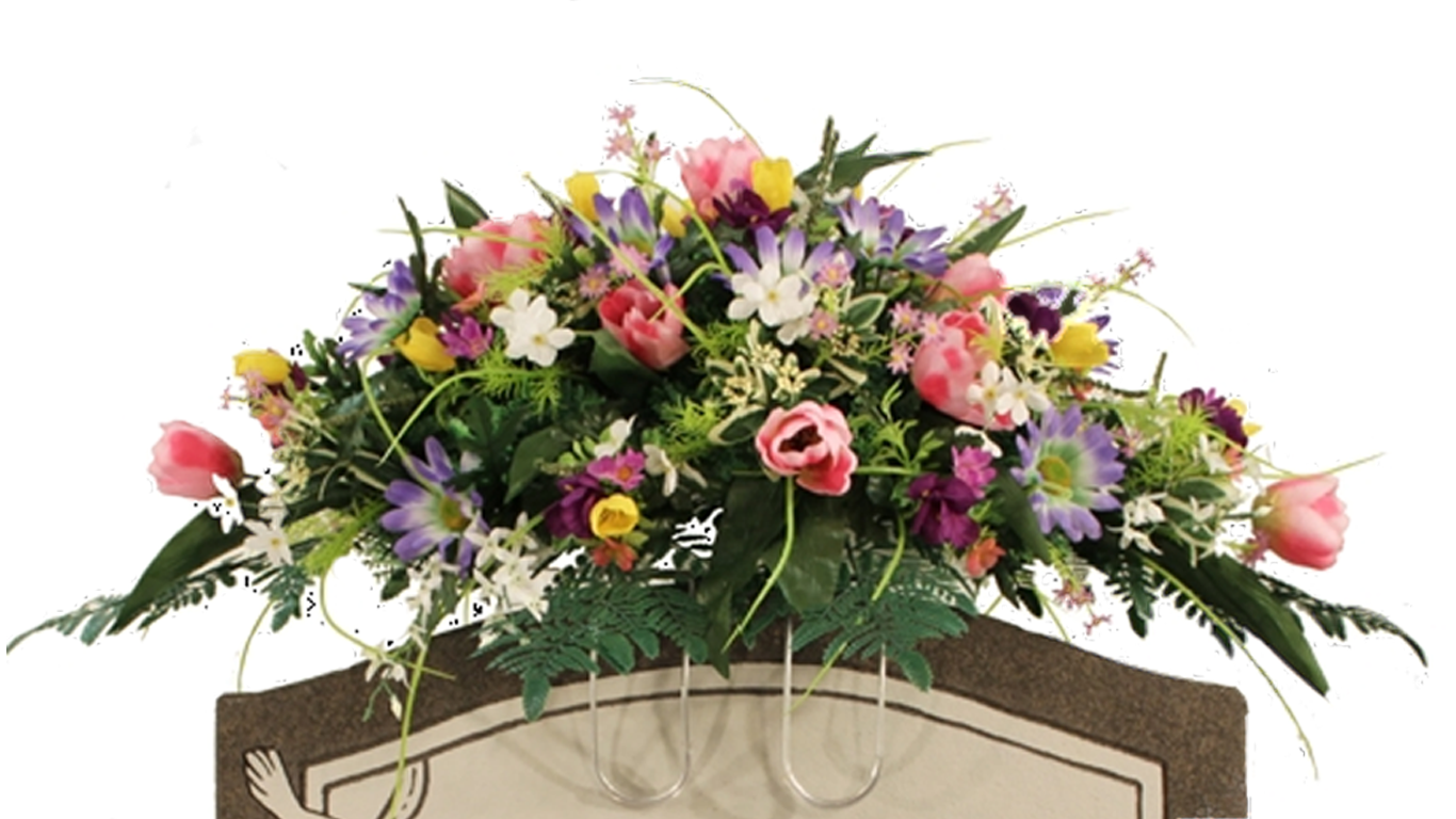 Spring Floral Saddle Arrangement