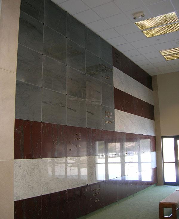 Veteran Flag Wall