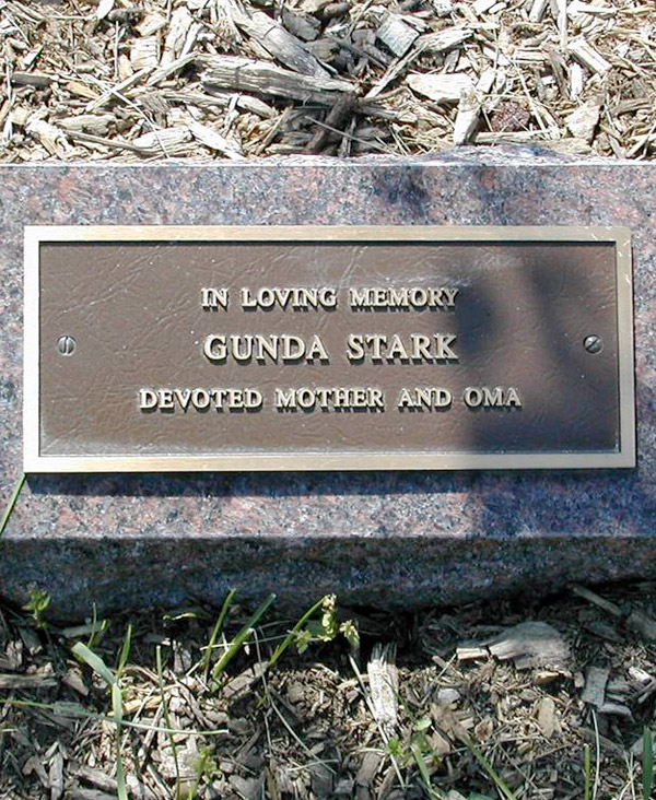 remembrance tree plaque