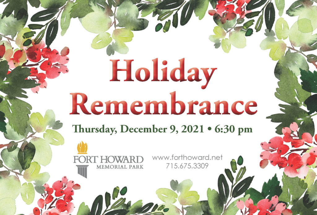 Fort Howard Memorial Park Holiday Remembrance